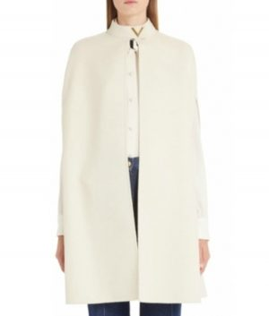 Younger Kelsey Peters White Cape Coat