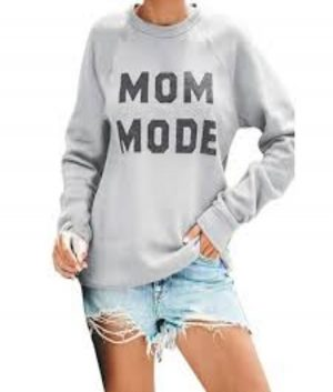 mom mode sweatshirt for womens