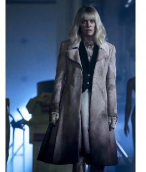 Rachel Skarsten Batwoman S02 Beth Kane Suede Leather Coat