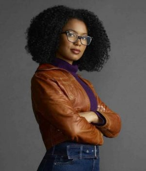Chilling Adventures of Sabrina Jaz Sinclair Brown Leather Jacket