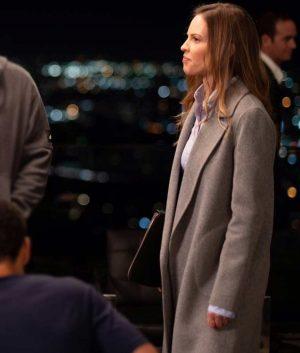 Hilary Swank Fatale Detective Valerie Quinlan Grey Trench Coat