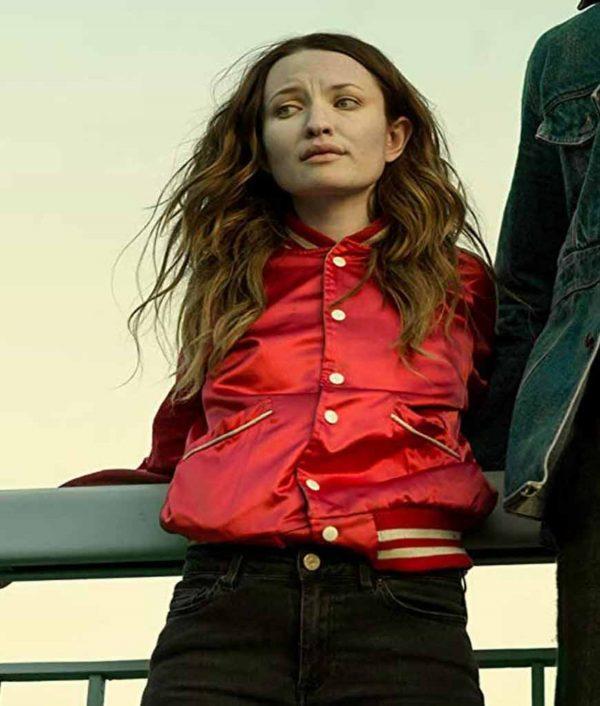 American Gods S02 Laura Moon Red Varsity Jacket