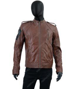 Frederick Cafe Racer Brown Leather Jacket