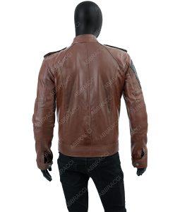 Frederick Brown Leather Cafe Racer Jacket