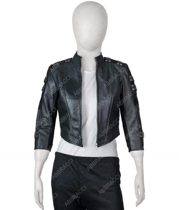 Katie Cassidy Arrow Season 2 Black Canary Jacket