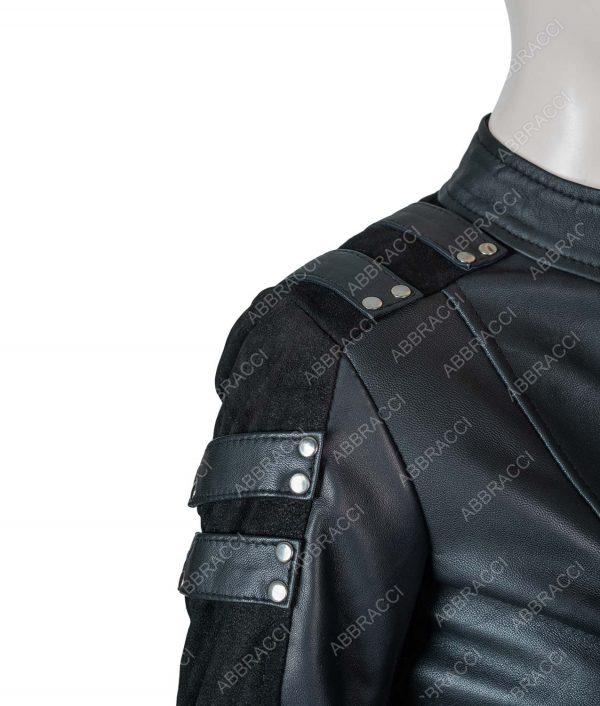 Katie Cassidy Arrow Season 2 Black Canary Leather Jacket