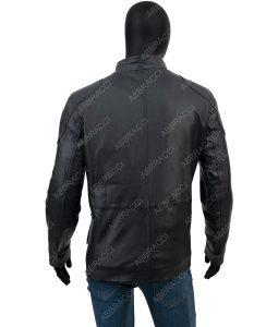 Leonardo Four Pocket Black Leather Jacket