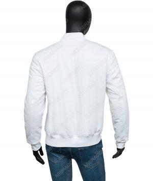 Mens White Bomber Jacket