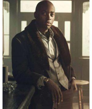 Hainsley Lloyd Bennett Pennyworth Bazza Coat With Fur Collar