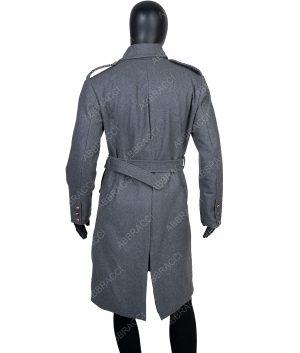 Shepherd Double-breasted Grey Long Coat