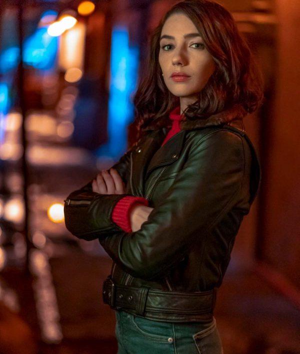 _Sue Dearbon TV Series The Flash S06 Natalie Dreyfuss Leather Jacket