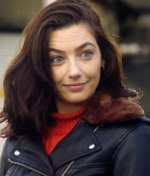 _Sue Dearbon TV Series The Flash S06 Natalie Dreyfuss Black Leather Jacket