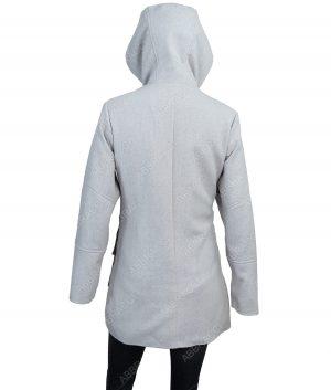 Womens Four Front Pocket Hooded Jacket Coat
