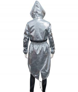 Womens Silver Coat