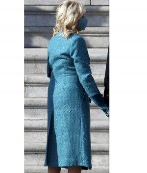 Jill Biden Blue Trench Coat
