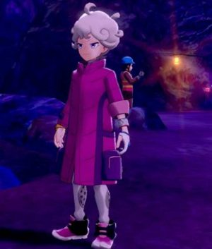 Pokemon Sword and Shield Bede Pink Long Puffer Jacket