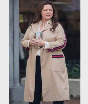 Carol Superintelligence Melissa McCarthy Brown Cotton Coat