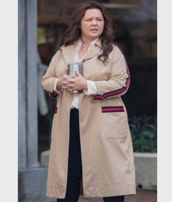 Carol Superintelligence Melissa McCarthy Brown Cotton Coat