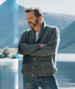 Sam Supernova 2021 Colin Firth Grey Sweater