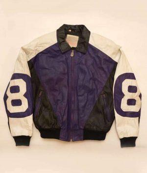 "Michael Hoban Purple and Black ""8 ball"" Jacket"