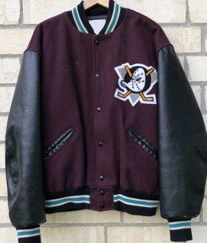 Mighty Ducks Black Letterman Jacket