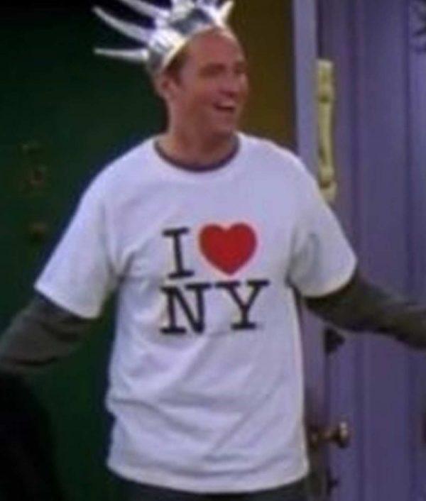 FRIENDS S10 E14 Chandler's I Heart NY T-Shirt