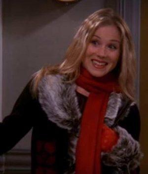 Friends S9 E8 Christina Applegate Fur Collar Coat