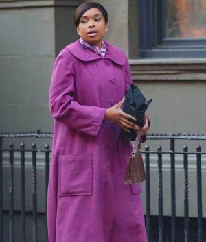 Jennifer Hudson Purple Coat