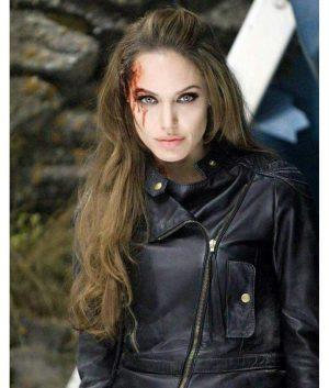 THE ETERNALS THENA LEATHER JACKET