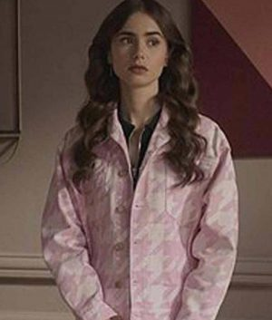 Emily In Paris Lily Collins Houndstooth Jacket