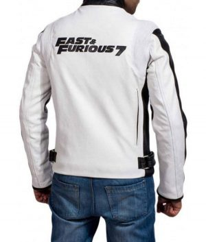 Fast and Furious 7 Dominic Toretto White Racer Jacket