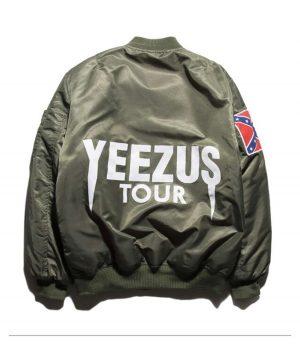 Kanye West Yeezy Confederate Flag Men Jacket