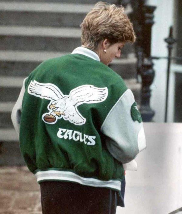 Princess Diana Philadelphia Eagles Green Jacket