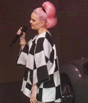 Anne Marie Our Song Plaid Jacket