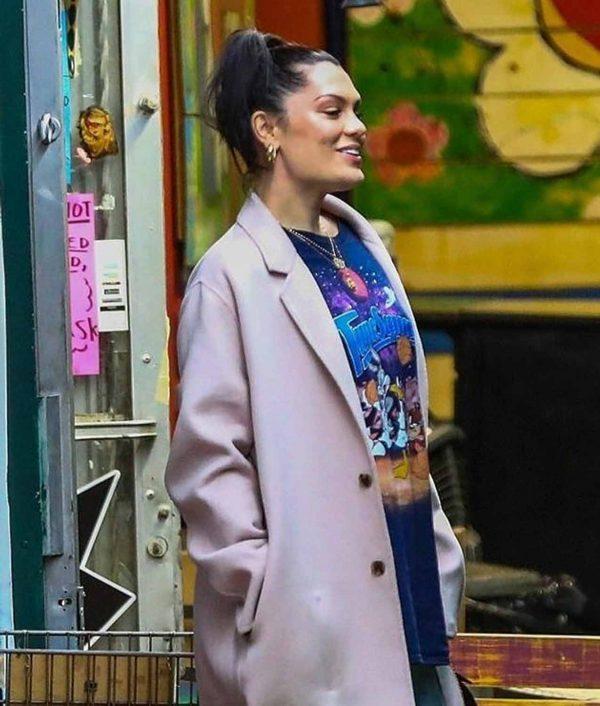 Jessie J Long Coat