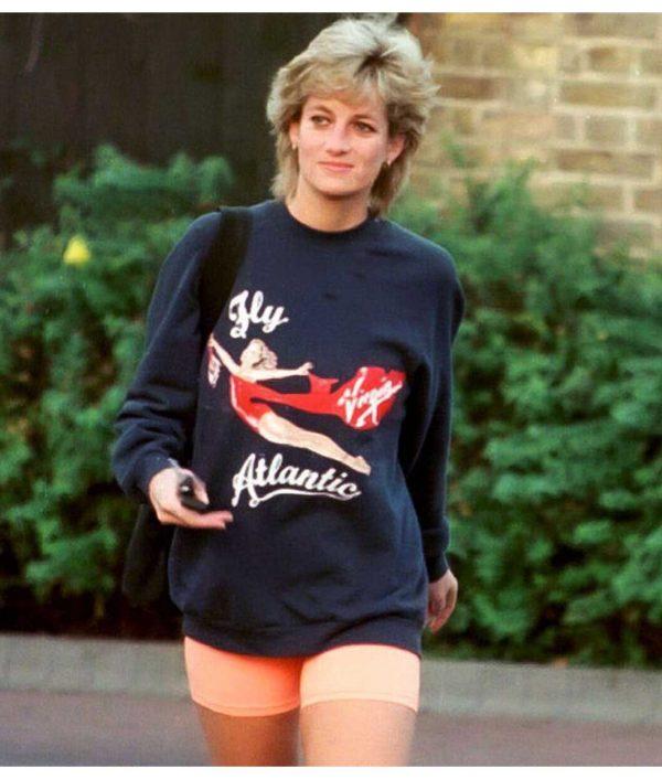 Princess Diana Fly Virgin Atlantic Blue Sweatshirt