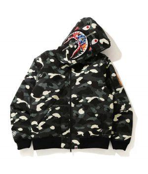 Black Bape Pattern Hoodie