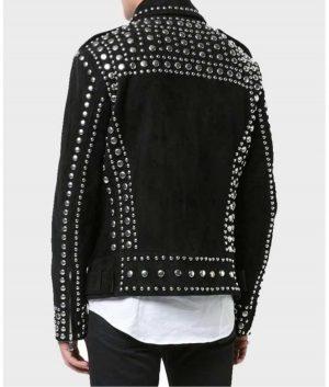 Black Rider Silver Studded Leather Jacket