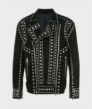 Black Rider Silver Studded Jacket