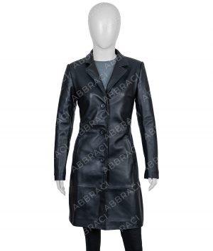 High Fidelity Zoe Kravitz Leather Black Coat