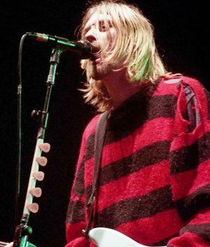 Kurt Cobain Red And Black Stripe Sweater