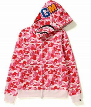 Pink Bape Pattern Hoodie